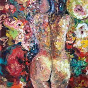 Come un fiore | olie op doek | 100x70