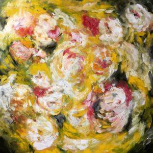 Il Giardino Giallo | olie op doek | 100x100