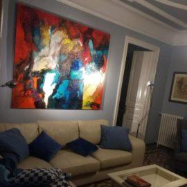 Schilderij naar Barcelona!