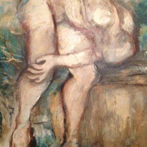 Discuswerper | olie op doek |120 x 100 cm