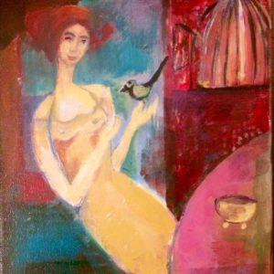 I'l fly away | acryl op doek| 22 x 30 cm