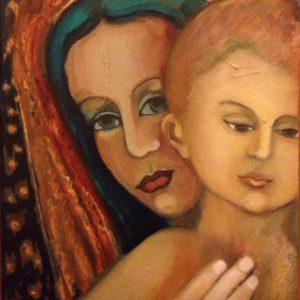 Madonna Sicilliana | olie op doek | 40 x 50 cm
