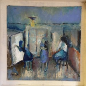 Thuis 2 | olie op doek | 30 x 30 cm