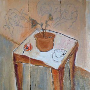 Thuis 3  |olievef op paneel | 20 x 20 cm