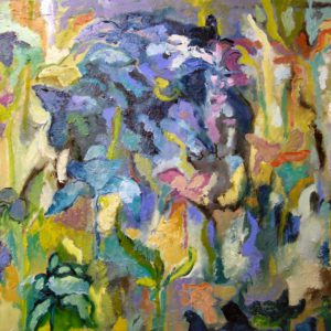 Zomertuin 7 | olie op doek | 60 x 80 cm
